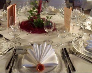 Goldhochzeit / Brauttisch
